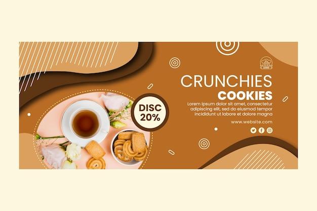 Modelo de banner de cookies saborosos