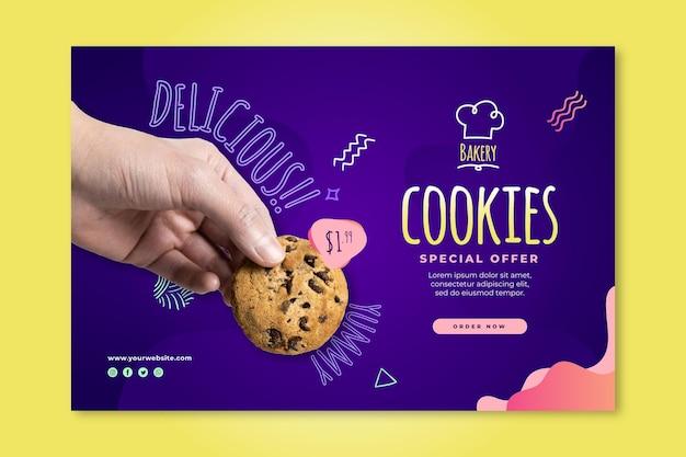Modelo de banner de cookies