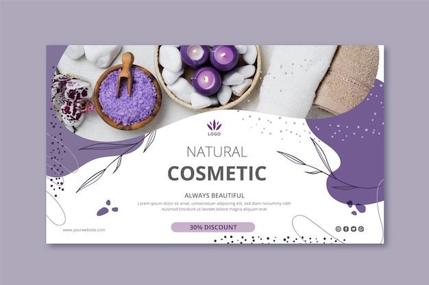 Modelo de banner de cosméticos com foto