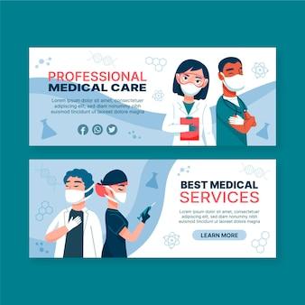 Modelo de banner de cuidados de saúde médicos