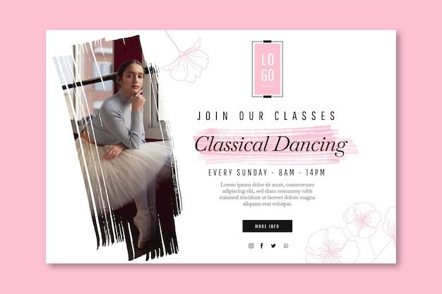 Modelo de banner de dança clássica