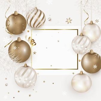 Modelo de banner de decorações de natal