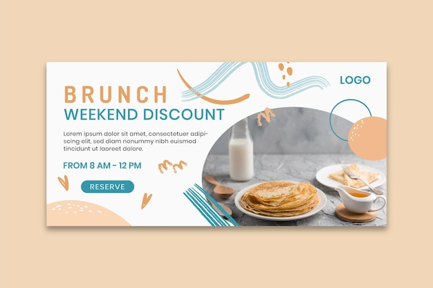 Modelo de banner de delicioso brunch