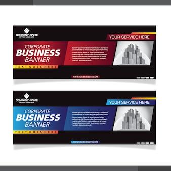 Modelo de banner de design abstrato