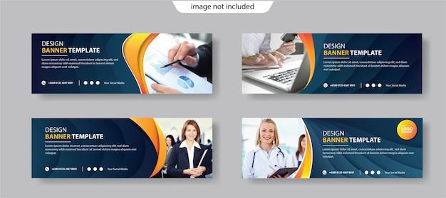Modelo de banner de design de negócios