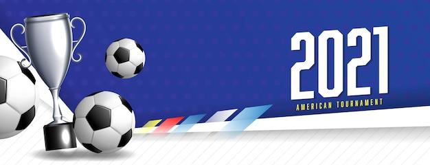Modelo de banner de esportes para torneio de futebol 2021 Vetor grátis