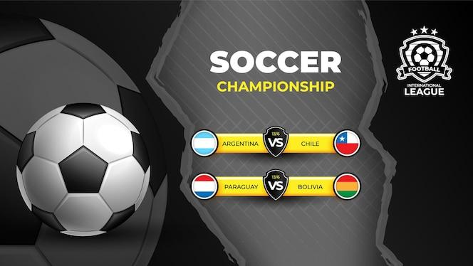Modelo de banner de esportes para torneio de futebol 2021