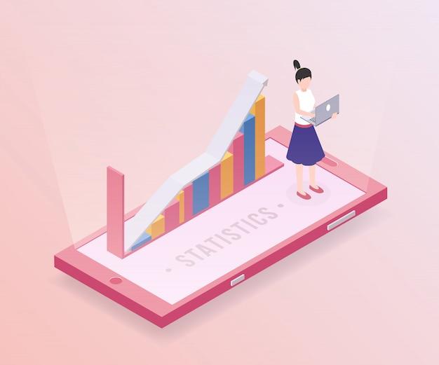 Modelo de banner de estatísticas de negócios