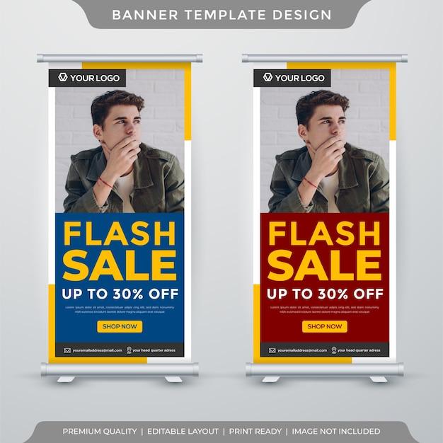 Modelo de banner de exibição de venda flash