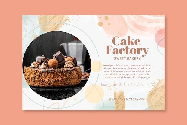 Modelo de banner de fábrica de bolo
