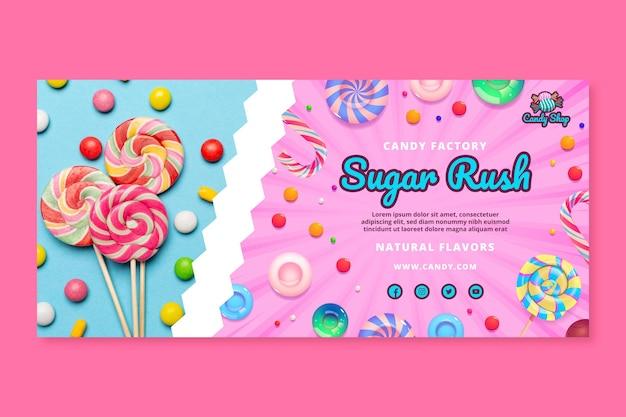 Modelo de banner de fábrica de doces