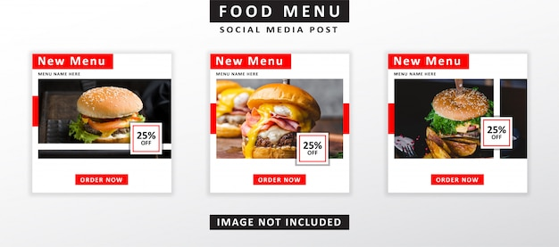 Modelo de banner de fast-food