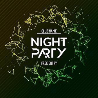 Modelo de banner de festa à noite