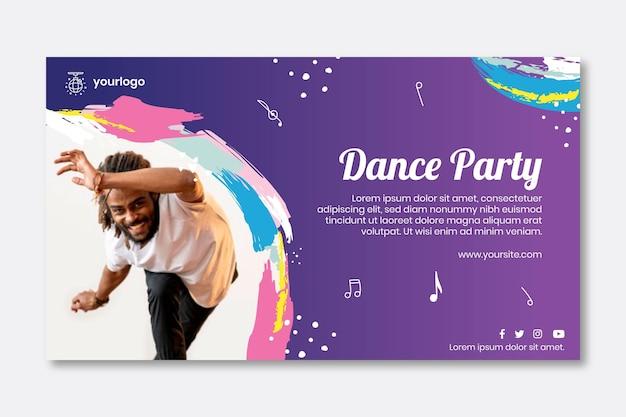 Modelo de banner de festa dançante