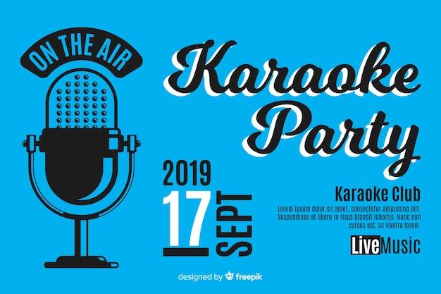 Modelo de banner de festa de karaoke criativo