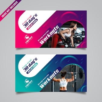 Modelo de banner de fitness