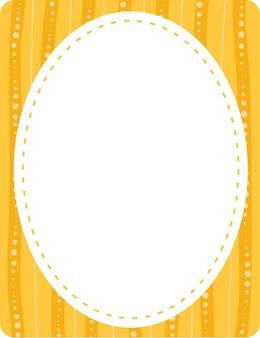 Modelo de banner de formato oval vazio