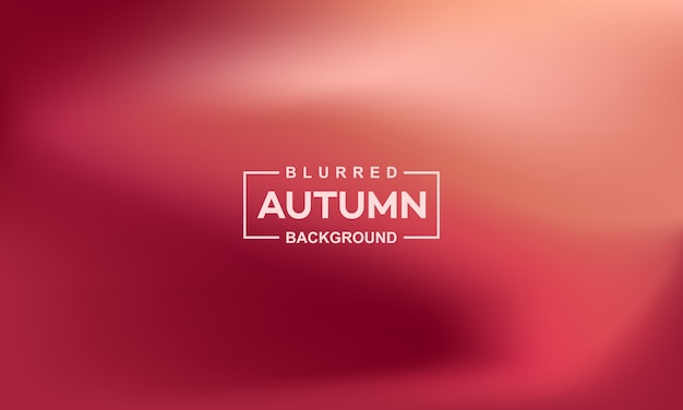 Modelo de banner de fundo desfocado outono