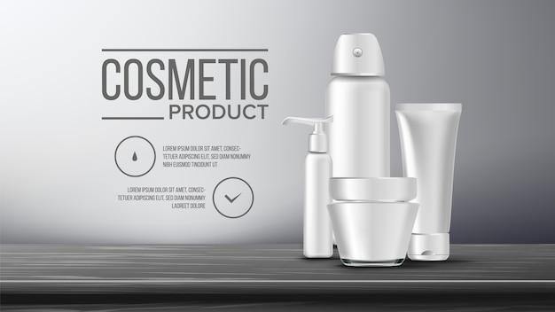 Modelo de banner de garrafa cosmética