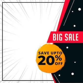 Modelo de banner de grande venda com detalhes da oferta