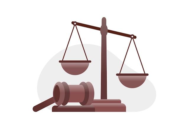 Modelo de banner de ilustração vetorial plana de escritório de advocacia