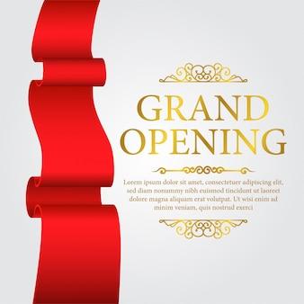 Modelo de banner de inauguração de luxo