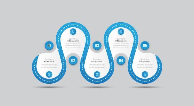 Modelo de banner de infográfico de negócios