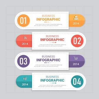 Modelo de banner de infográficos