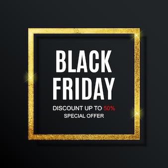 Modelo de banner de inscrição de venda de sexta-feira negra.