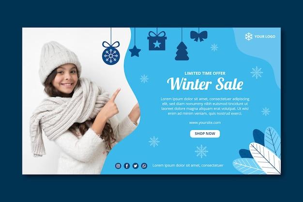 Modelo de banner de inverno