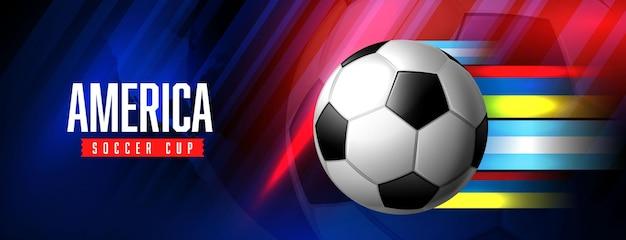 Modelo de banner de jogo de torneio de futebol americano