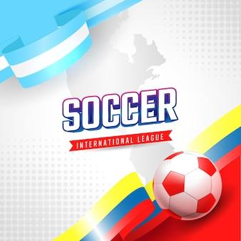 Modelo de banner de jogo de torneio de futebol da américa do sul