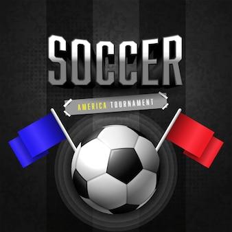 Modelo de banner de jogo de torneio de futebol de futebol