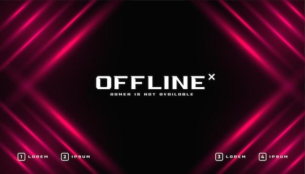 Modelo de banner de jogo off-line brilhante
