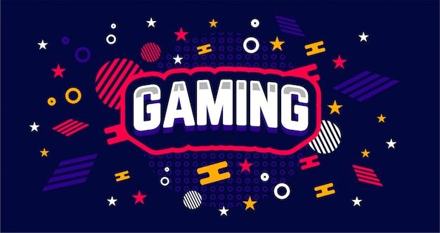 Modelo de banner de jogos simples e exclusivo