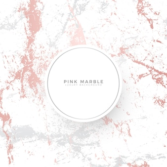 Modelo de banner de luxo de mármore rosa