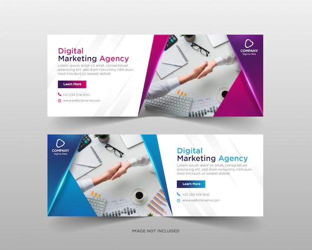 Modelo de banner de marketing de negócios digitais