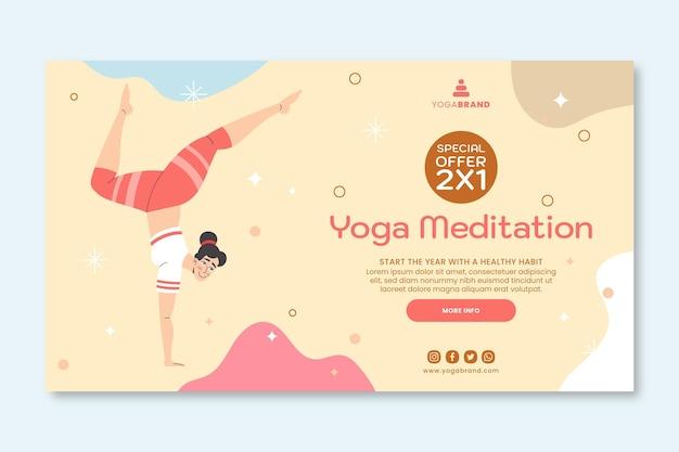 Modelo de banner de meditação em ioga
