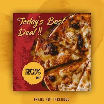 Modelo de banner de menu de pizza