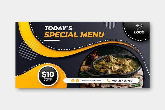 Modelo de banner de menu especial