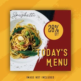 Modelo de banner de menu spaghetty
