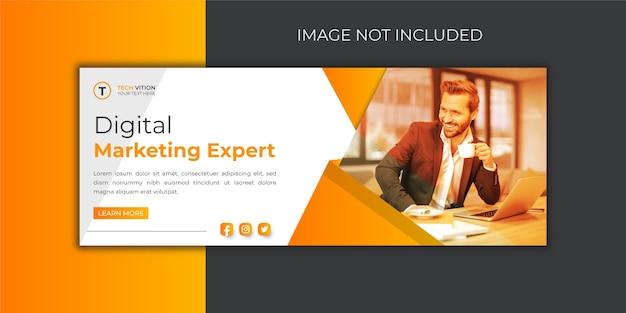 Modelo de banner de mídia social criativa com design de capa do facebook