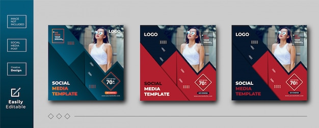 Modelo de banner de mídia social criativa design