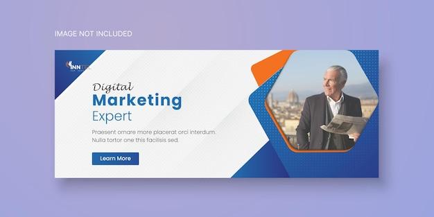 Modelo de banner de mídia social empresarial com design de capa do facebook premium vector