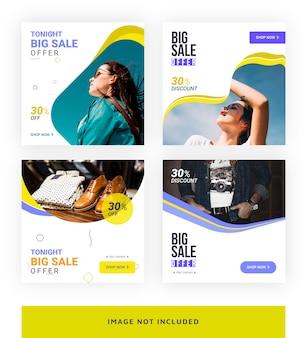 Modelo de banner de mídia social grande venda