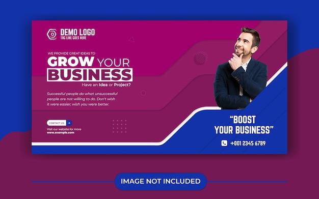 Modelo de banner de mídia social para agência de crescimento de negócios
