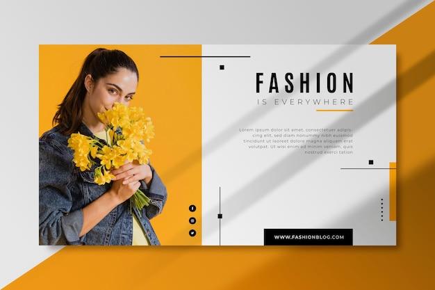 Modelo de banner de moda para blog