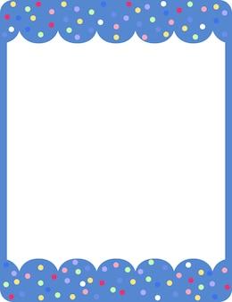 Modelo de banner de moldura de onda azul vazia