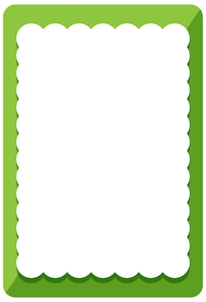 Modelo de banner de moldura de onda verde vazia