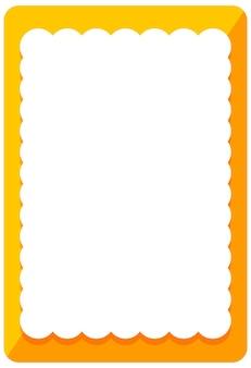 Modelo de banner de moldura laranja vazio